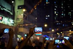 Through your screen (edward.cheung) Tags: taihangdragonfiredance hk hongkong a6000 3518f sony nightstreet midautumn 2016 crowded phone record