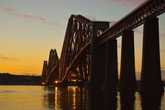 Forth Rail Bridge sunset (adepark1975) Tags: forth rail bridge