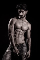 Saad LB #06 (Kazi_Kamrul_Abid) Tags: man male model fitness monocrome hot abs portrait studio style sixpacks