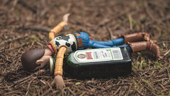 Woody's Ethylic Love Story - 8/8 (Reiterlied) Tags: 105mm alcohol alcoholism bergen d5200 dslr jagermeister lens macro nikon norway photography prime reiterlied sigma stuckinplastic toy toystory woody