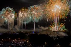 Fireworks Friday: Hallowishes from Bay Lake Tower - September, 2014 (rowanb73) Tags: disney disneyworld fireworks fireworksfriday baylaketower magickingdom wishes hallowishes halloween night spacemountain