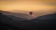 Flying solo (jasonhudson2) Tags: balloon llangallon wales landscape sunset xt1 fujifilm