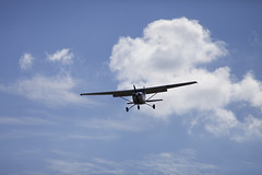 A SMALL AIRPORT, SOME PARKS AND CLOUDS - L (Jussi Salmiakkinen (JUNJI SUDA)) Tags: chofu tokyo japan cityscape park airport sky cloud aircraft wood airplane autumn landscape
