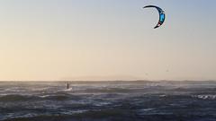 Kiteboarding at Dillon Beach - 2 (fksr) Tags: kiteboarding kitesurfing dillonbeach tomalesbay marincounty california waves sport action sunset kite horizon