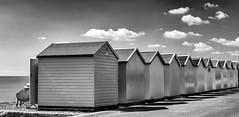 Morning sunshine in Felixstowe (Susan Shervington) Tags: blackandwhite bw nikon d7100 outdoor streetphotography felixstowe suffolk beachhuts monochrome