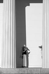 Two hats (PIXXELGAMES - Robert Krenker) Tags: ladies hat sulen weis pillar vienna wien schwarzweiss monochrome monochrom fujifilm fujinon candid shy blacknwhite blackandwhite biancoenero snapshot street streetstyle fashion makeup lifestyle smartphone shadow architecture