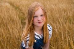 Barley Field Portrait (Silver Machine) Tags: scotland macduff barleyfield portrait smile girl teenager landscape field outdoor shallowdepthoffield fujifilm fujifilmxt10 fujinonxf35mmf2rwr
