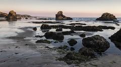 (Dansereal2) Tags: sunset lowtide tidepool canonrebelsl1 california anonuevo gazoscreek rocks coastline beach