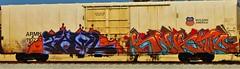 Tawl, Knistt (nunya...nunyabusiness) Tags: art up train graffiti paint graf tracks zee unionpacific spraypaint freight lords armn rxr fgs knistt gtl tawl knistto