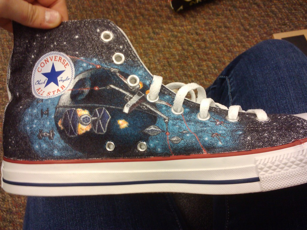 b159329dfb5d3b Star Wars (fallonkeegan) Tags  death star shoes fighter luke tie solo  converse darth