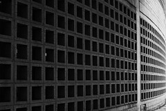 Land Bank (canongirl2009) Tags: urban blackandwhite bw abstract horizontal architecture concrete pattern cradock horizontallines diagonals converginglines diminishingperspective nikond3000