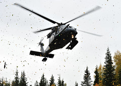 212th Rescue Squadron and 509th Infantry Regiment (Airborne) train with each other (Official U.S. Air Force) Tags: infantry alaska training army us ak helicopter airforce pavehawk moulage airguard pararescue hh60g jointtraining 509th bakercompany jointbaseelmendorfrichardson