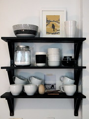 epic kitchen remodel (das_kaninchen) Tags: black kitchen yellow gray shelf cups dishes