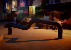 Kunst und Leben am Abend in Saint Truiden (radonracer) Tags: digiart hopper sainttruiden radonart