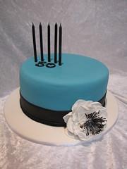 Simple elegance (TopTierCelebrationCakes) Tags: anemone elegant simplecake 50thbirthdaycake fantasyflower