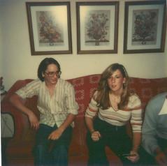 Alan and Debbie, circa 1978 (STUDIOZ7) Tags: woman man cute guy girl polaroid disco apartment sweet young nostalgia teen 1970s seventies twenties