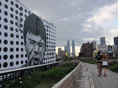 Strolling The High Line, Chelsea, New York (rwchicago) Tags: park newyorkcity summer urban newyork publicspace landscape downtown billboard highline thehighline