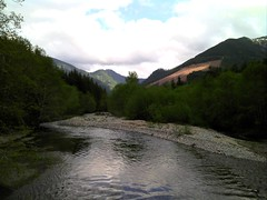 View of the North Fork Snoqualmie from the Red Bridge Photo