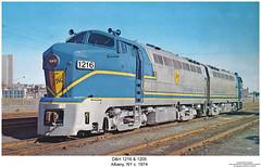 D&H 1216 & 1205 (Robert W. Thomson) Tags: railroad newyork train diesel railway trains dh albany locomotive trainengine baldwin coveredwagon delawareandhudson warbonnet rf16 fouraxle cabunit