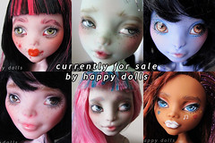 group2 (happy dolls) Tags: sea cute monster ball high doll forsale sweet vampire cam adorable frankie kawaii bjd etsy custom happydolls fa fs rochelle jointed repaint foradoption clawdeen hellohappy draculaura