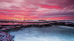 Coledale Beach Sunrise (Taha Elraaid) Tags: beach beautiful sunrise canon eos image mark iii australia nsw 5d mm 1740 taha wollongong illawarra coledale wollongongcity canoneos5dmarkiii elraaid tahaphotography tahaelraaid