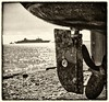 karnagio (big andrei) Tags: sea bw sepia boat ship fuji grain cyprus limassol is1 karnagio