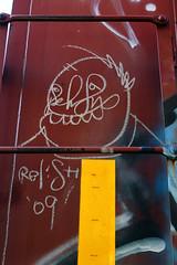 Relish (The Braindead) Tags: street art minnesota st train bench paul photography graffiti interesting paint flickr painted tracks minneapolis twin rail explore most relish beyond the braindead cites flickrs moniker thebraindead