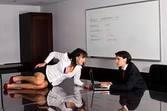 Battle of the Sexes (Paguma / Darren) Tags: woman female work model place clone juidth