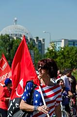 Manifestazione San Raffaele -5- (-Siby-) Tags: flag american rsu precari demostration laborunion bandiera usi manifestazione cgl cisl sindacato ospedalesanraffaele