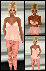 Just peachy (Brookie Rascon) Tags: sl secondlife paperdoll stumblebum catwa hollipocket bensbeauty