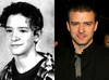 Justin Timberlake then and now. WENN.COM