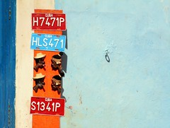 H7471P.. (areyarey) Tags: auto road street blue red orange classic car wall vintage design classiccar vintagecar automobile colorful driving transport havana cuba plate icon front retro number nostalgia numbers transportation license vehicle motor collectors habana registration licence numberplate oldfashioned motoring lisense areyarey