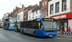 Blue buses, all shapes and sizes (bobsmithgl100) Tags: street city nottingham blue sky bus transport parliament line upper 315 versa 997 epo optare bdz yr10 omnidekka yk08epo yr10bdz yk08