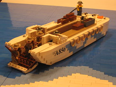 "LCA (Landing Craft Assault) (""Rumrunner"") Tags: world 2 beach lca war lego wwii craft canadian assault landing ii ww2 ww dday juno worldwar2 rumrunner"