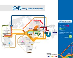 Mercury trade in the world (Zoi Environment Network) Tags: world mercury map geography import trade economy export tradingcentre