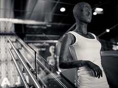 Riding the escalator (Helena Normark) Tags: mannequin norway norge f14 escalator f 5d hairsalon trondheim srtrndelag 3514 canoneos5d distagont1435 carmablow