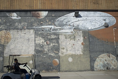 USS Enterprise (susan catherine) Tags: losangeles mural market security planets x100