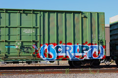SCRIPT (KNOWLEDGE IS KING_) Tags: railroad art yard bench graffiti paint railway socal bomb railfan freight ki taf upn icr buger 663k batler