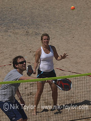 Beach Tennis Tournament, Tolcarne Beach, Newquay. (ontourwithdaisy.co.uk) Tags: summer woman playing man game male beach sport vertical female seaside healthy mixed sand cornwall play sandy newquay competition player tennis tournament event players fit 20s doubles competing tolcarne 2029 competitor twenties 20years 2024