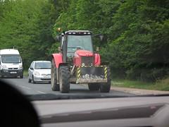 Red Tractor (kenjonbro) Tags: uk red england tractor kent onthemove backseat a20 farningham kenjonbro fujihs10 carwindcreen