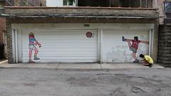 (Barrybu) Tags: street red chicago hot art truck paint artist box bull goons