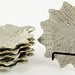 196. Set of (6) Drabware Leaf Dishes
