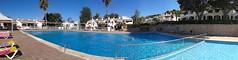 Panoramic of the swimming pool. (Steve Dawson.) Tags: pool swimming islands spain san jaime menorca sonbou balearic