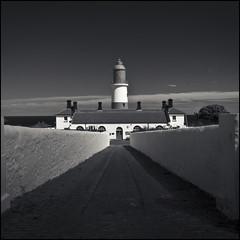 Souter Lighthouse 28 (Jeff Teasdale) Tags: uk sea england sky blackandwhite lighthouse monochrome clouds coast nationaltrust countydurham