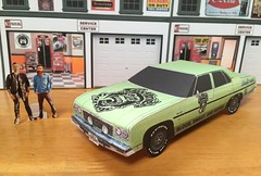 Papercraft Gas Monkey/ Fast N Loud 1975 Chevy Caprice (official inspection station) Tags: 1975 chevroletcaprice chevrolet caprice gasmonkeygarage gasmonkey tvcar fastnloud papercar papercraft paper toy