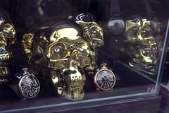 memento mori (edwardpalmquist) Tags: harajuku shibuya tokyo japan travel city street urban shopping fashion skull watch jewelry gold window reflection