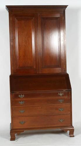 Virginia Craftsman Blind Door 2 Piece Bookcase/Secretary ($3,472.00)
