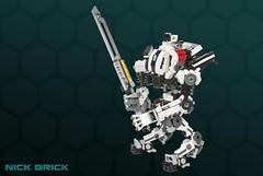 Ronin Titan - Titanfall 2 (Nick Brick) Tags: lego titanfall 2 titanfall2 ronin titan sword pilot imc militia apexpredators 64 swordcore leadwall shotgun respawn mech mecha nickbrick