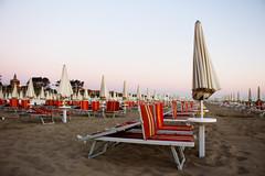 Rimini Aquamarina (krisztina.sonkoly) Tags: rimini riminibeach aquamarina umbrella sand peace smallhours earlybird sunbeds italy