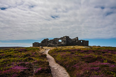 King Charles' Castle, Tresco, Isle Of Scilly (splib1) Tags: kingcharlescastle castle tresco isleofscilly cloud heather blue path stone oldgrimsby ruin civilwar 16thcentury englishheritage gradeiilisted outdoor architecture